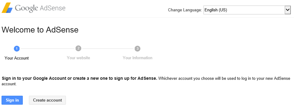 Signin AdSense using Google Account