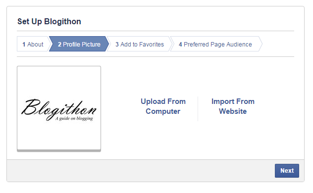 Upload Profile Picture for Facebook page