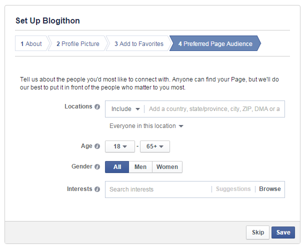 Facebook preferred audience for your page