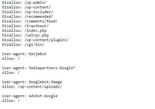 Blogithon Wordpress robots txt file