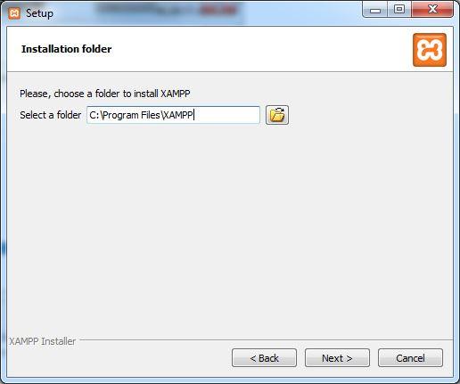 xampp-select-folder