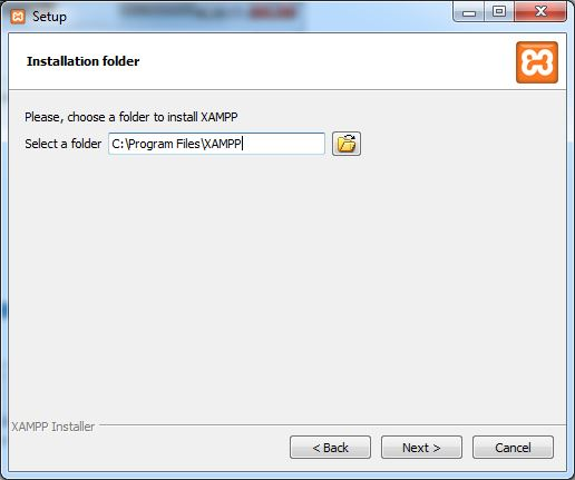 xampp-select-folder